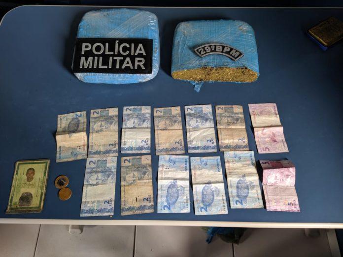 Em Maranhãozinho - Policiais militares lotados no 29° BPM prendem casal suspeito de traficar drogas